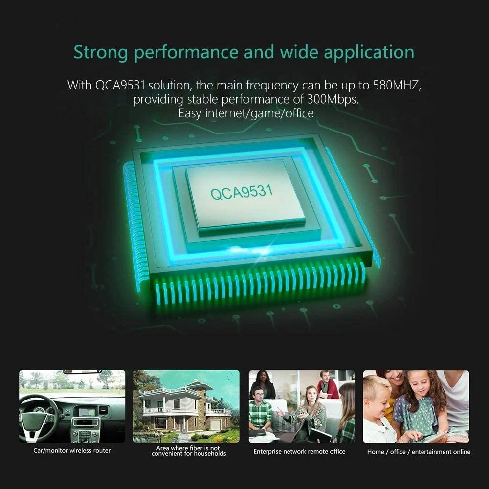 Naliovker WE2416 4G Router WiFi 300Mbps 2.4G Router Inal/áMbrico de Grado Industrial con Ranura de Tarjeta SIM Enchufe de la EU