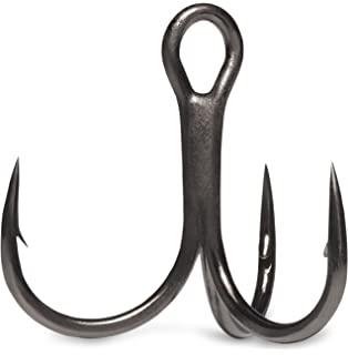 Package of 4 VMC Hybrid Treble Short 1x Hook #4 Hook Size Black//Nickel