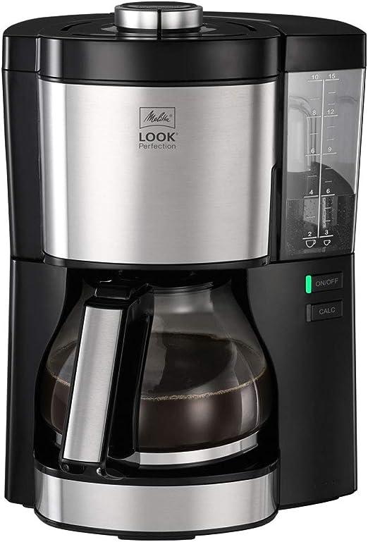Kaffeemaschine Look V Perfection von Melitta, AromaSelector, 1.25 Liter, schwarz, mit Glaskanne, voller Kaffeegenuss: Amazon.es: Hogar