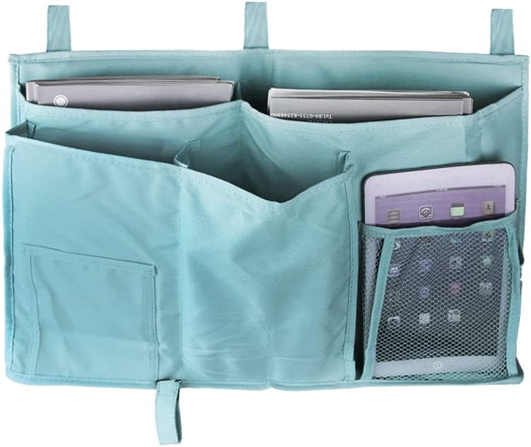 Storage Organizer for High Sleeper Bed BXT Student Bed Bag Organiser Made From 600D Oxford Cloth Black//Blue black