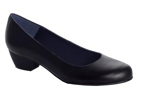 9a213899f4ef9 Oneflex Lea Negro - Zapato cómodo de Trabajo para Mujer  Amazon.es  Zapatos  y complementos