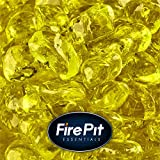 Sunflower Yellow - Fire Glass Dots for Indoor and Outdoor Fire Pits or Fireplaces   10 Pounds   3/8 Inch