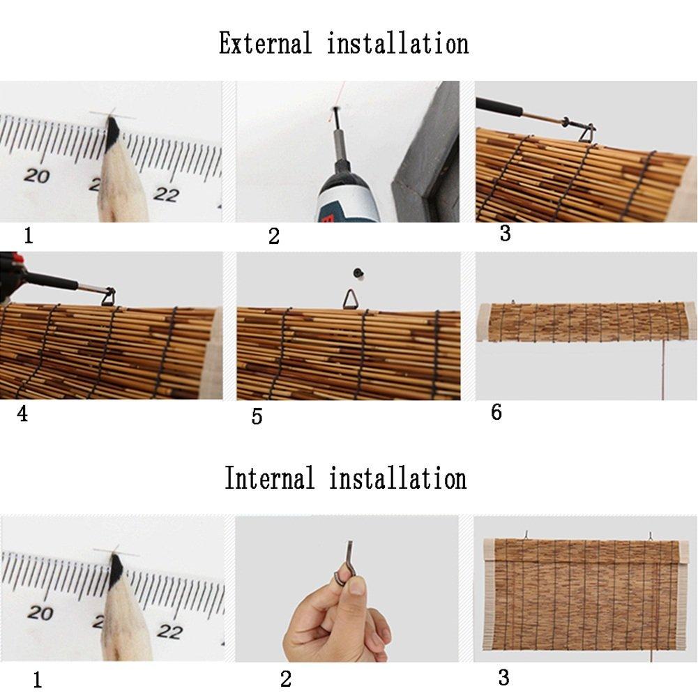 Deevin Stores Enrouleur/en Bambou Vintage Imperm/éable,Volets Frais pour Int/érieur//Ext/érieur Rideaux en Roseau Naturel Personnalisables