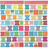 72 Pieces Bible Tabs, Peel and Stick Decorative