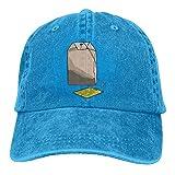 Moonmoon Unisex Tea Bag Personal Group Athletic Cowboy Cap Peaked Baseball Cap