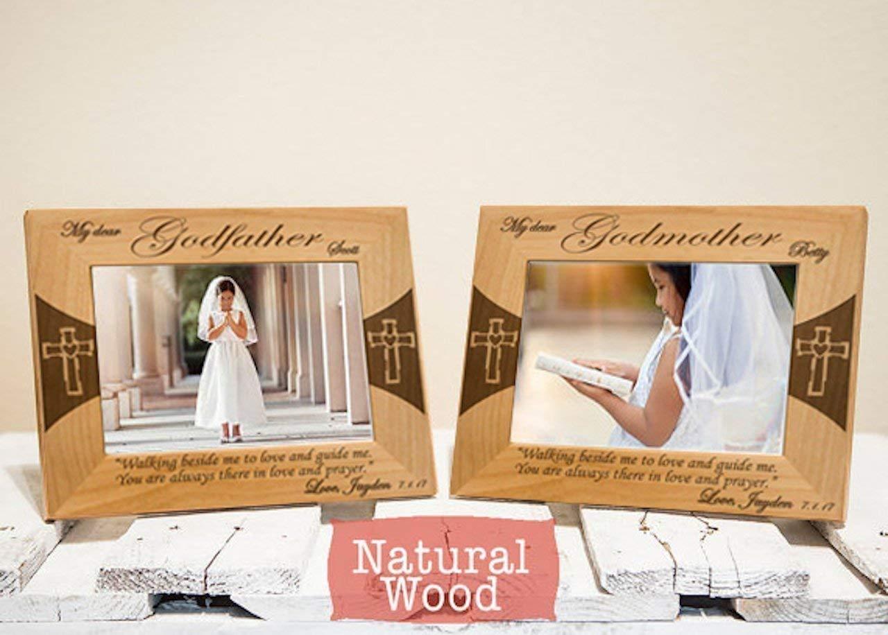 Amazon.com: Godparents Frames Set - Personalized Godparents Gifts ...