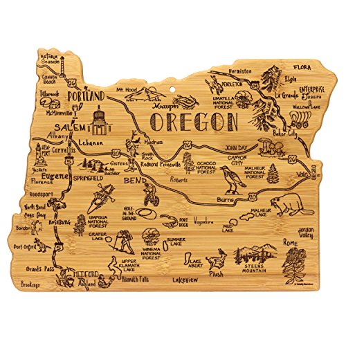 Totally Bamboo Oregon State Destination Bamboo Serving and Cutting Board (Oregon Home)