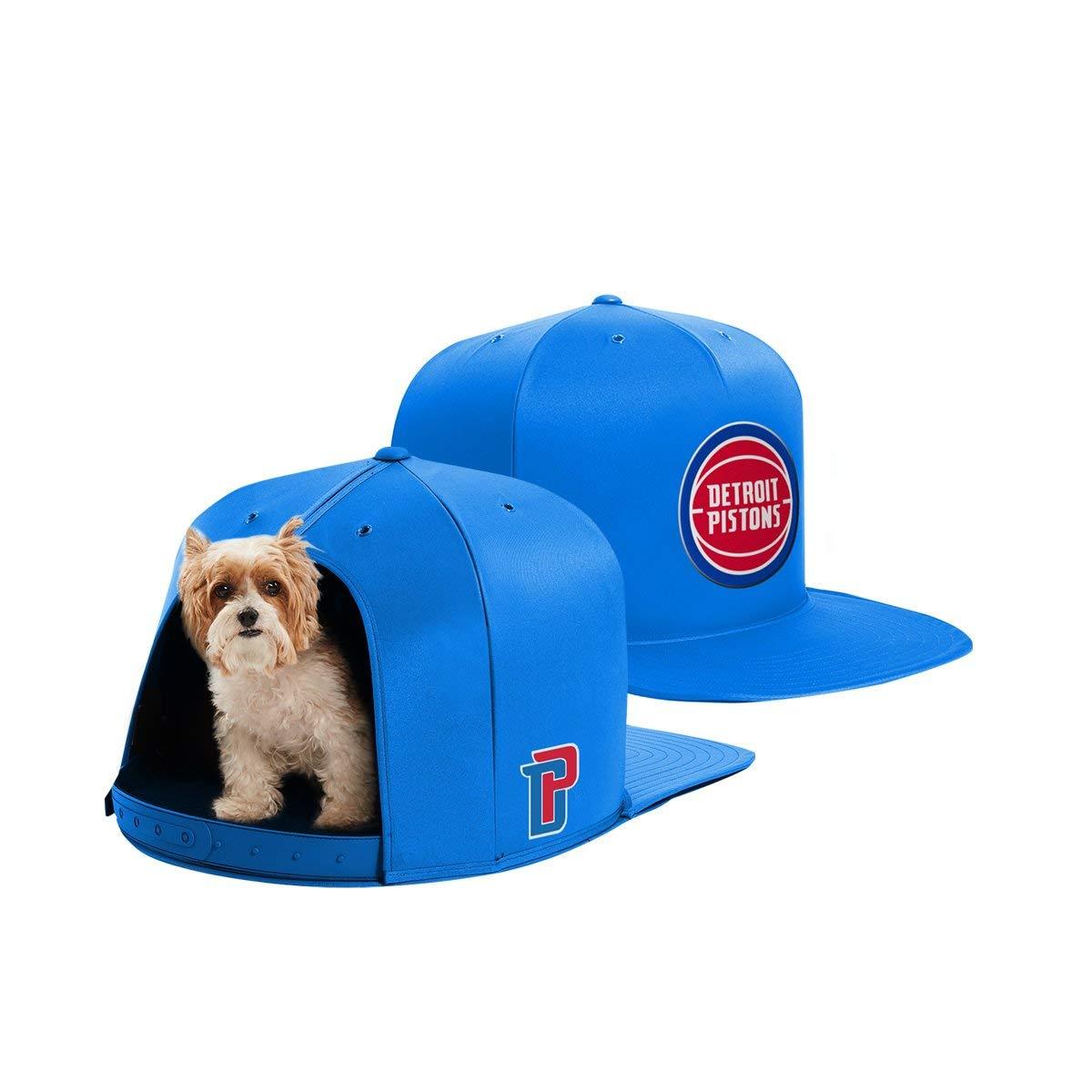 NAP CAP NBA Detroit Pistons Team Indoor Pet Bed, Blue (Small)
