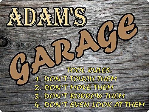 adam-garage-tool-rules-wood-effect-design-decor-sign-9x12-plastic-