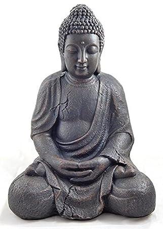 Statuette bouddha for Bouddha dans un jardin