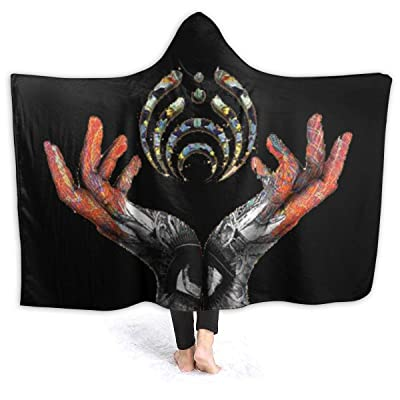 MHOONOW Bassnectar Hooded Thick Travel Beach Oversized Cloak Cape Bassnectar Shawl Blanket Throw with Hood for Men Womens Kids: Kitchen & Dining