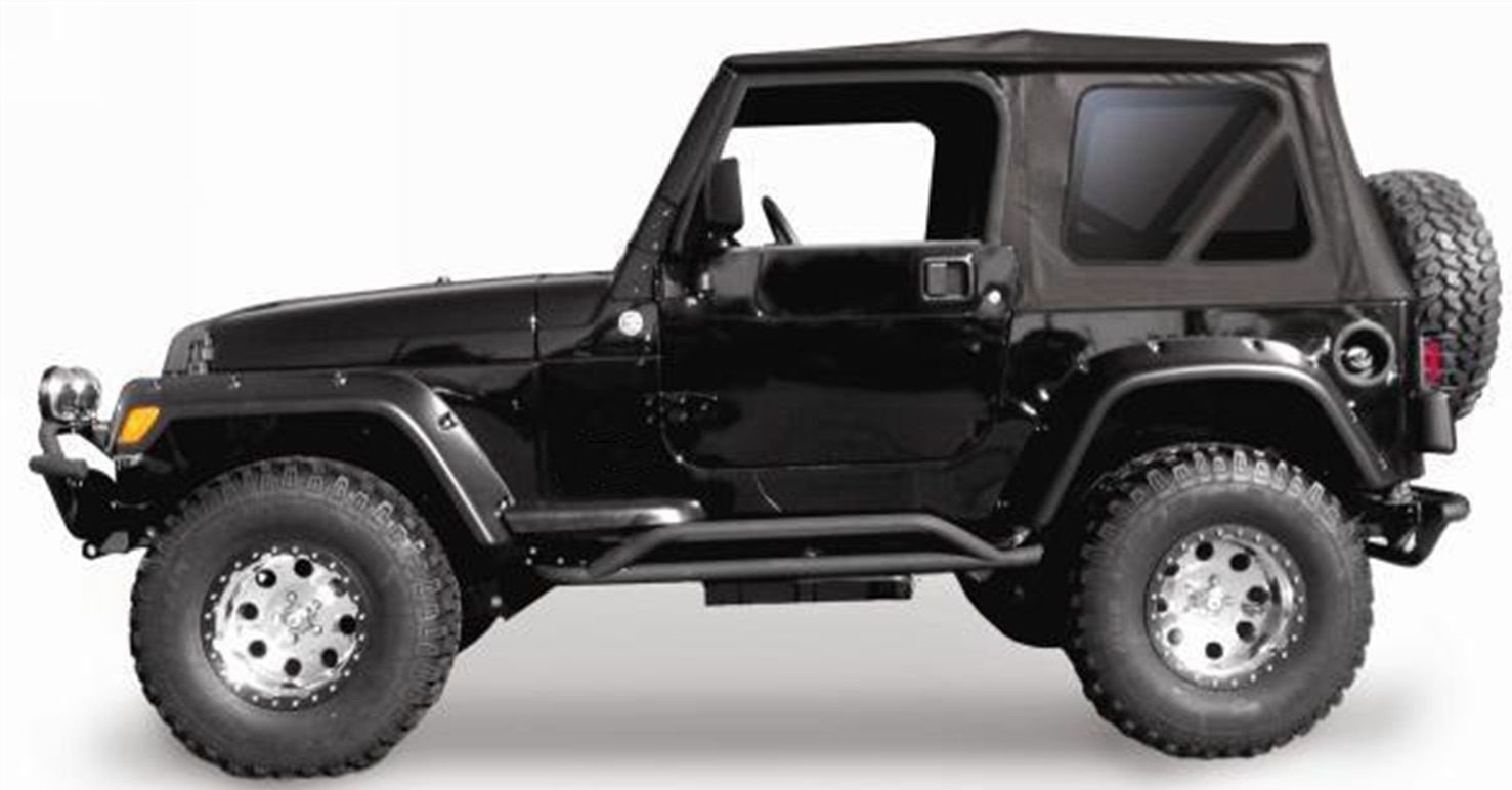Jeep Wrangler Soft Top 1997 2006 97 06 Black Tinted Hardtop For Tj Wiring Diagram Full Steel Doors Automotive