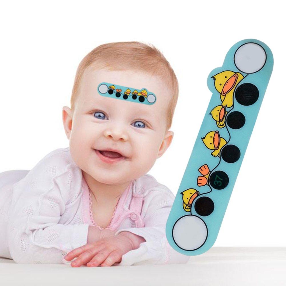 Termó metro tiras para la frente, cuidado del bebé , adhesivo de temperatura de fiebre LCD, portá til una vez, 10 unidades de pegatinas para termó metro de frente para niñ os cuidado del bebé portátil una vez Following