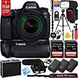 Canon EOS 6D Mark II 26.2MP Full-Frame DSLR Camera w/EF 16-35mm f/2.8L III USM Lens Pro Memory Triple Battery & Grip SLR Video Recording Bundle - Newly Released 2018 Beach Camera