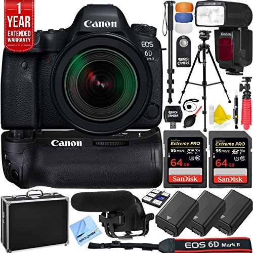 Canon EOS 6D Mark II 26.2MP Full-Frame DSLR Camera w/EF 24-7
