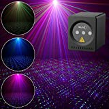 SUNY Mini Portable Cordless Laser Lights Rechargeable RGB Stars Patterns Gobo Projector Sound Activated Music DJ Party…