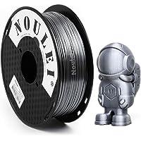 Noulei Shiny PLA 3D Printing Filament for 3D Printer, 1kg/2.2lbs Spool 1.75mm, Silk Silver