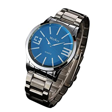 SamMoSon Relojes Hombre Deportivos Elegantes Digital Inteligente De Agua, Reloj De Pulsera De Cuarzo Analógico De Acero Inoxidable Simple Mcykcy Fashion Men: ...