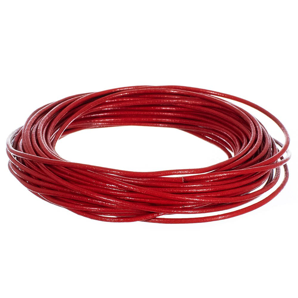 5 25 or 50 Yards or 328 feet Craft County 2MM Round Leather Cord 10 Various Colors