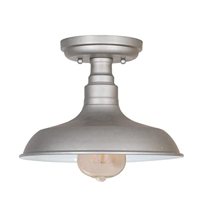 Amazon design house 519876 kimball 1 light semi flush mount design house 519876 kimball 1 light semi flush mount ceiling light galvanized steel finish aloadofball Choice Image