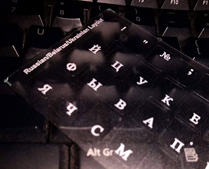 d23c6356f5c Russian Keyboard Stickers for Mac, Desktop PC: Amazon.co.uk: Electronics