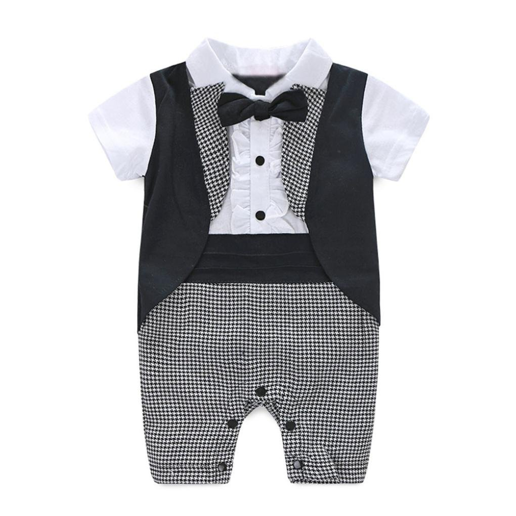 FORESTIME Baby Boy Formal Party Christening Wedding Tuxedo Waistcoat Bow Tie Suit