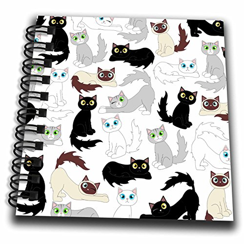 3dRose Kawaii Cats Notepad db 110774 3