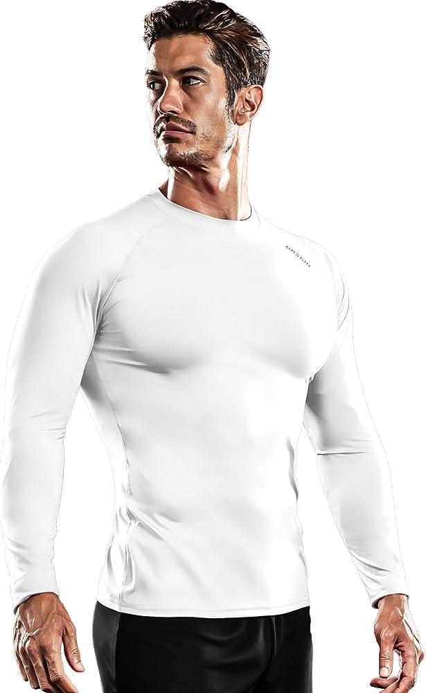 DRSKIN Men Compression short Sleeve Sport Running Shirt Fitness Rashguard QuickD