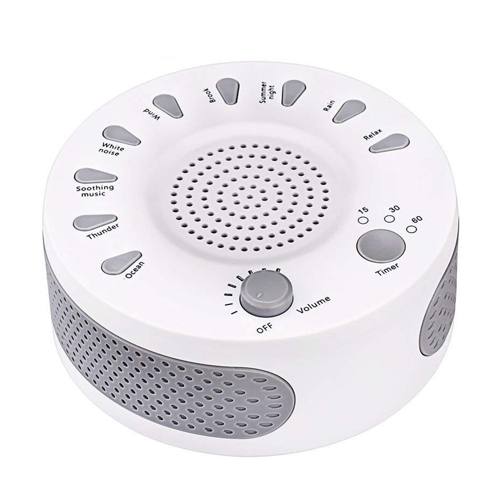 White Noise Machine, Portable Sleep Sound Therapy Machine with 3 Timers & 9 Natural Sound Options for Baby Kids Home Office Bedroom Travel Sleep Timer