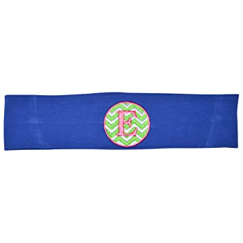 Amazon.com   Logo Loops Stretchy Embroidered Headbands for Girls with High  Fashion Initial Letter Designs (E c5a8186531e