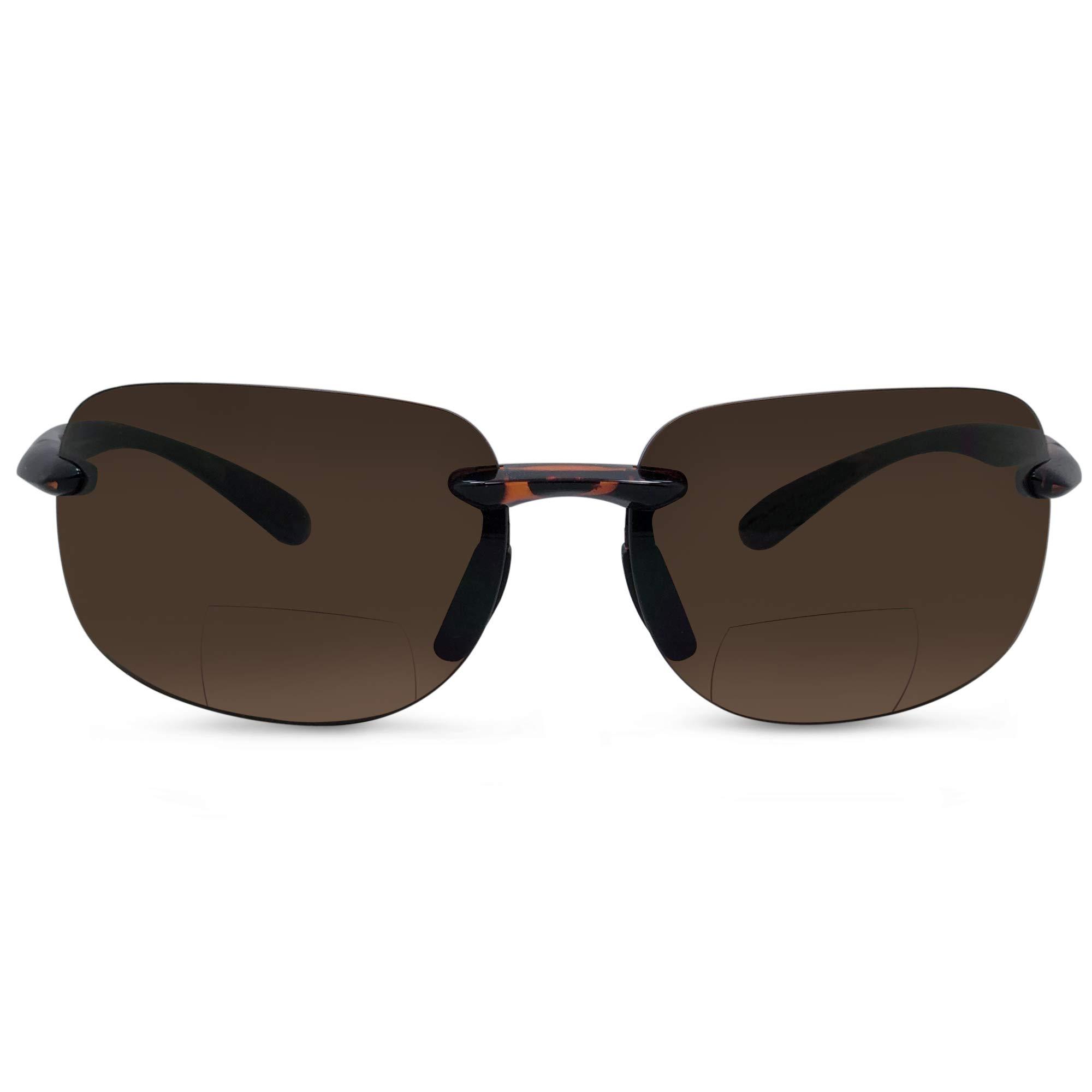In Style Eyes Lovin Maui Wrap Premium Polarized Bifocal Sunglasses tortoise 1.50