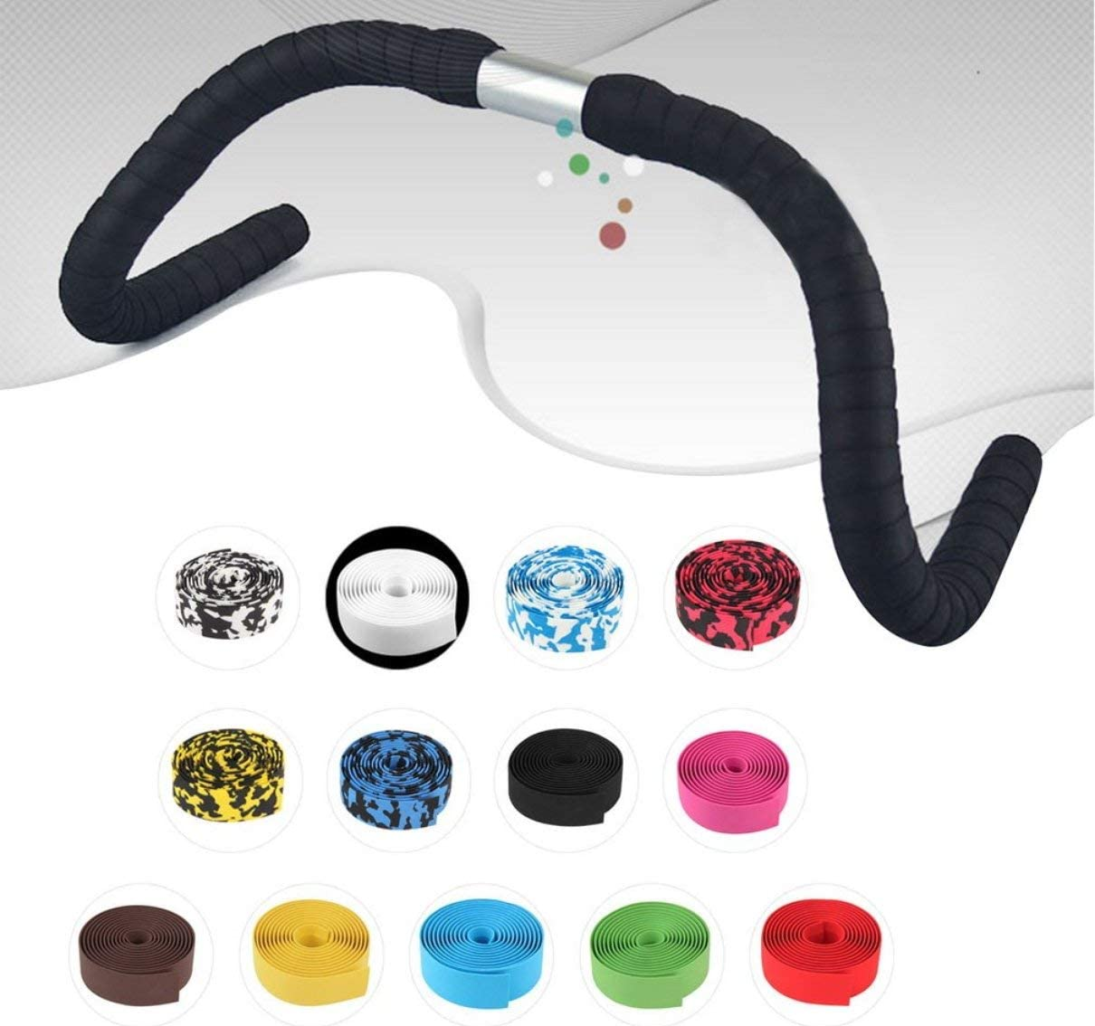 Togames 2 Bar Gratuit Haute Qualit/é Color/é V/élo Poign/ée Ceinture V/élo V/élo Li/ège Guidon Tape Wrap