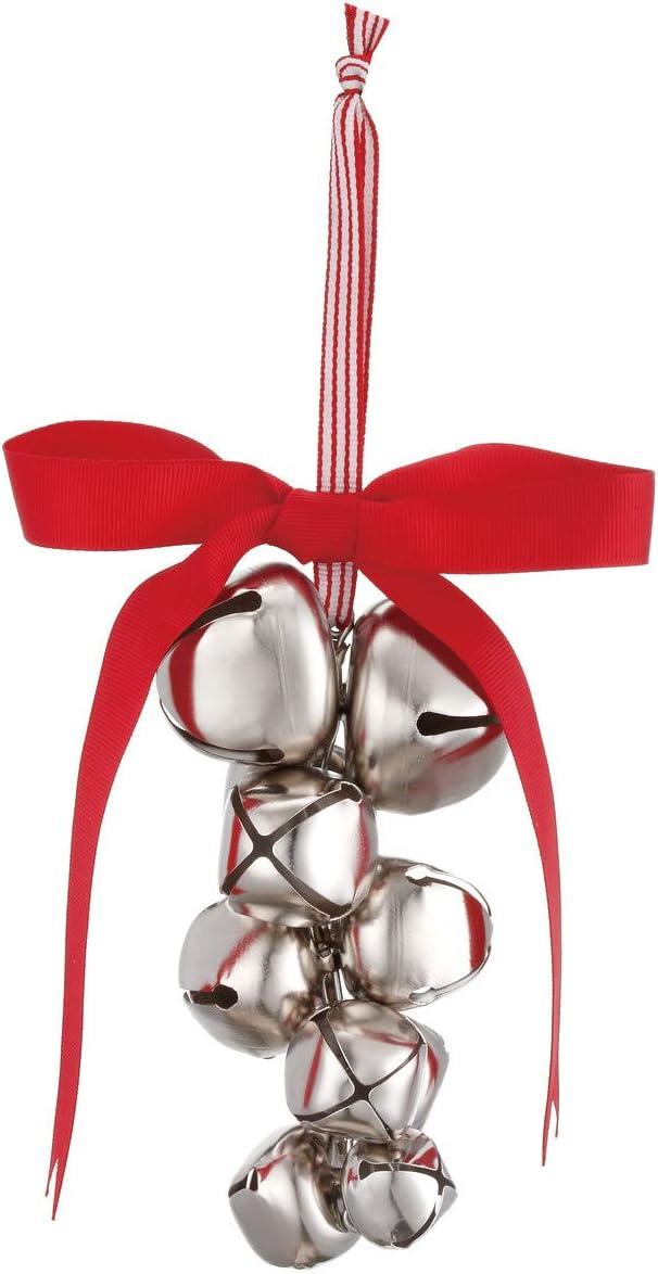 Amazon Com Demdaco Jingle Bells Silvertone 4 X 6 Inch Metal Hanging Christmas Tree Ornament Home Kitchen