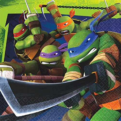 Teenage Mutant Ninja Turtles Lunch Napkins (16-Pack). (Teenage Mutant Ninja Turtles Halloween)