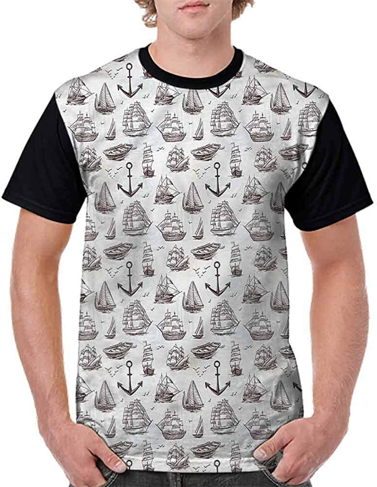 Performance T-Shirt,Vintage Sea Transportation Fashion Personality Customization