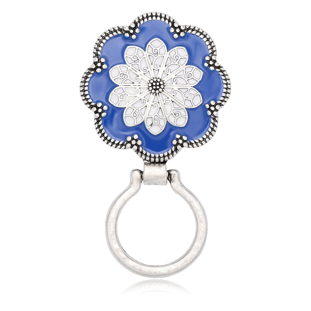 SENFAI Sunflower Brooch Eyeglass Holder for Reader (Silver)