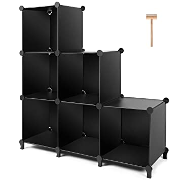 Surprising Tomcare Cube Storage 6 Cube Closet Organizer Storage Shelves Cubes Organizer Diy Plastic Closet Cabinet Modular Book Shelf Organizing Storage Shelving Interior Design Ideas Lukepblogthenellocom