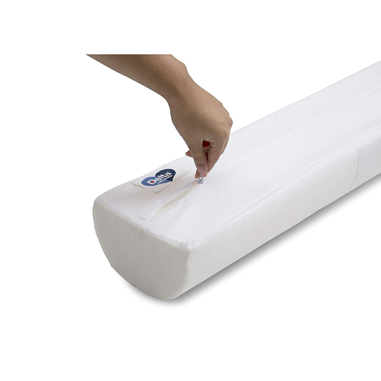 Delta Children Foam Bed Rails/Bumpers with Water-Resistant Covers and Non-Slip Bottoms for Toddlers & Kids - 2 Pack (White) by Delta Children (Image #8)