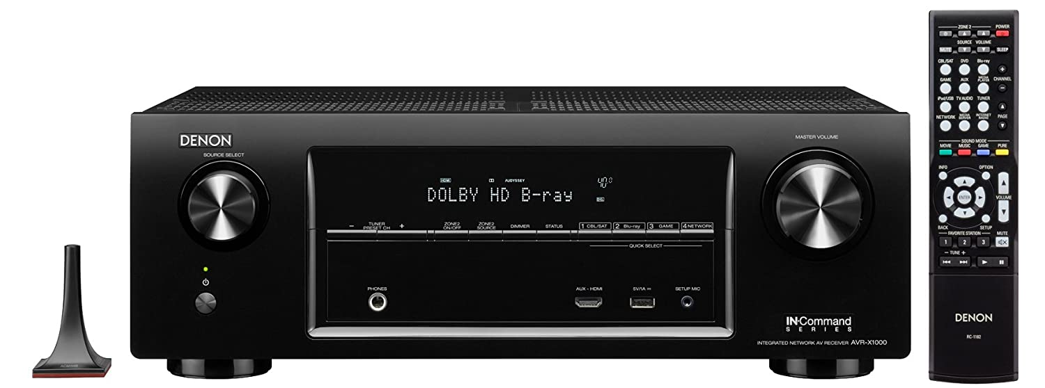 amazon com denon avr x1000 5 1 channel networking home theater av rh amazon com Denon AVR Manual Denon Exercise Freaks Manuals