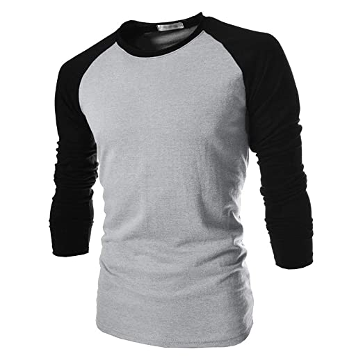 0166c0533ab ZYEE Clearance Sale! Men Long Sleeve T-Shirt Plain Cotton Tee Men s Casual  Bottoming