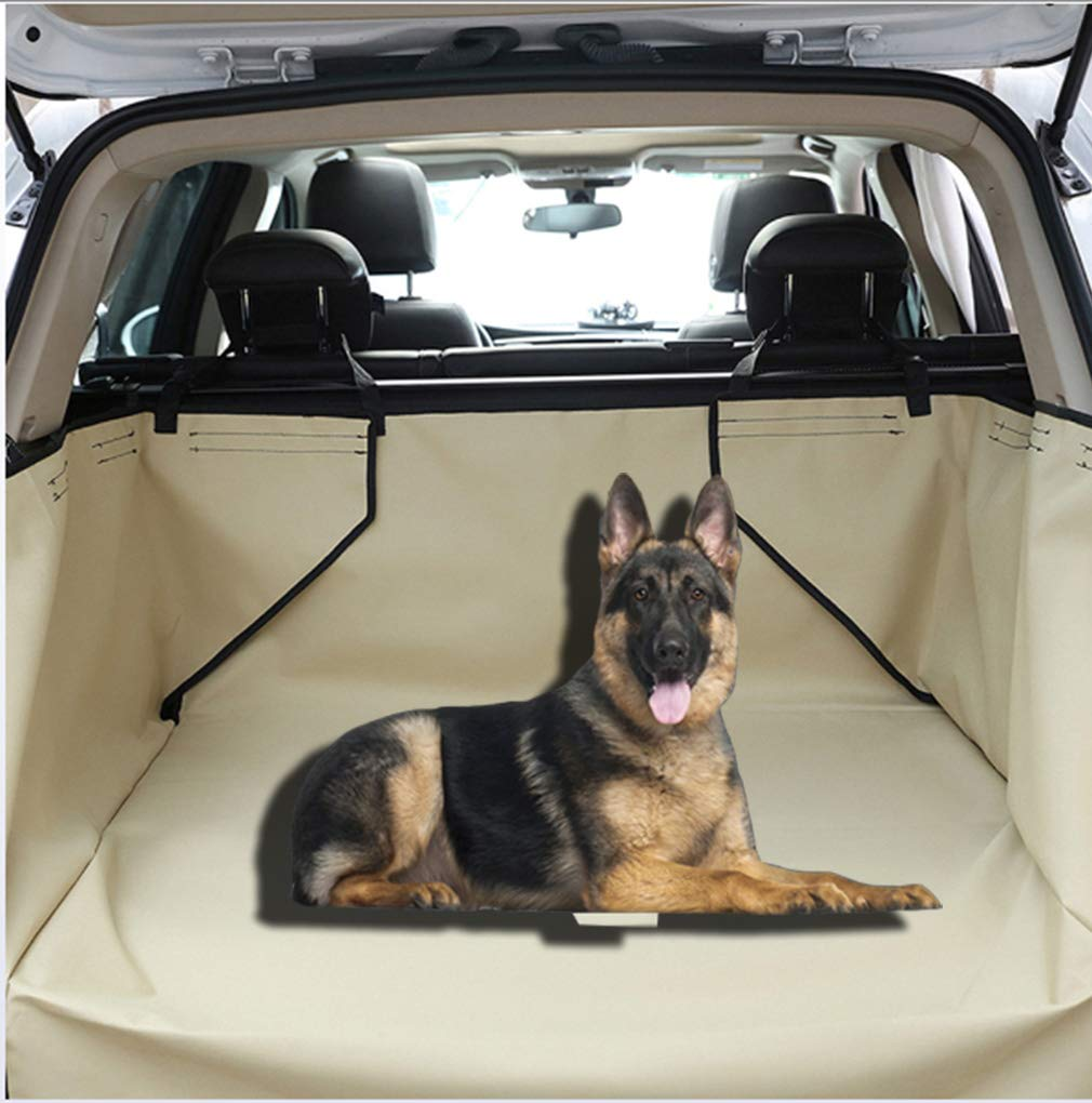 Khaki Dog Covers Back Seat Cars, Pet Dog Trunk Cargo Liner SUV Dog Car Pet Products,Congreenible Comfort Accessory for SUVs,Washable Pet Backseat Predector,Khaki