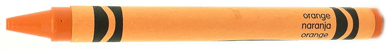 50 Orange Crayons Bulk Regular Size 5//16 x 3-5//8 Single Color Crayon Refill