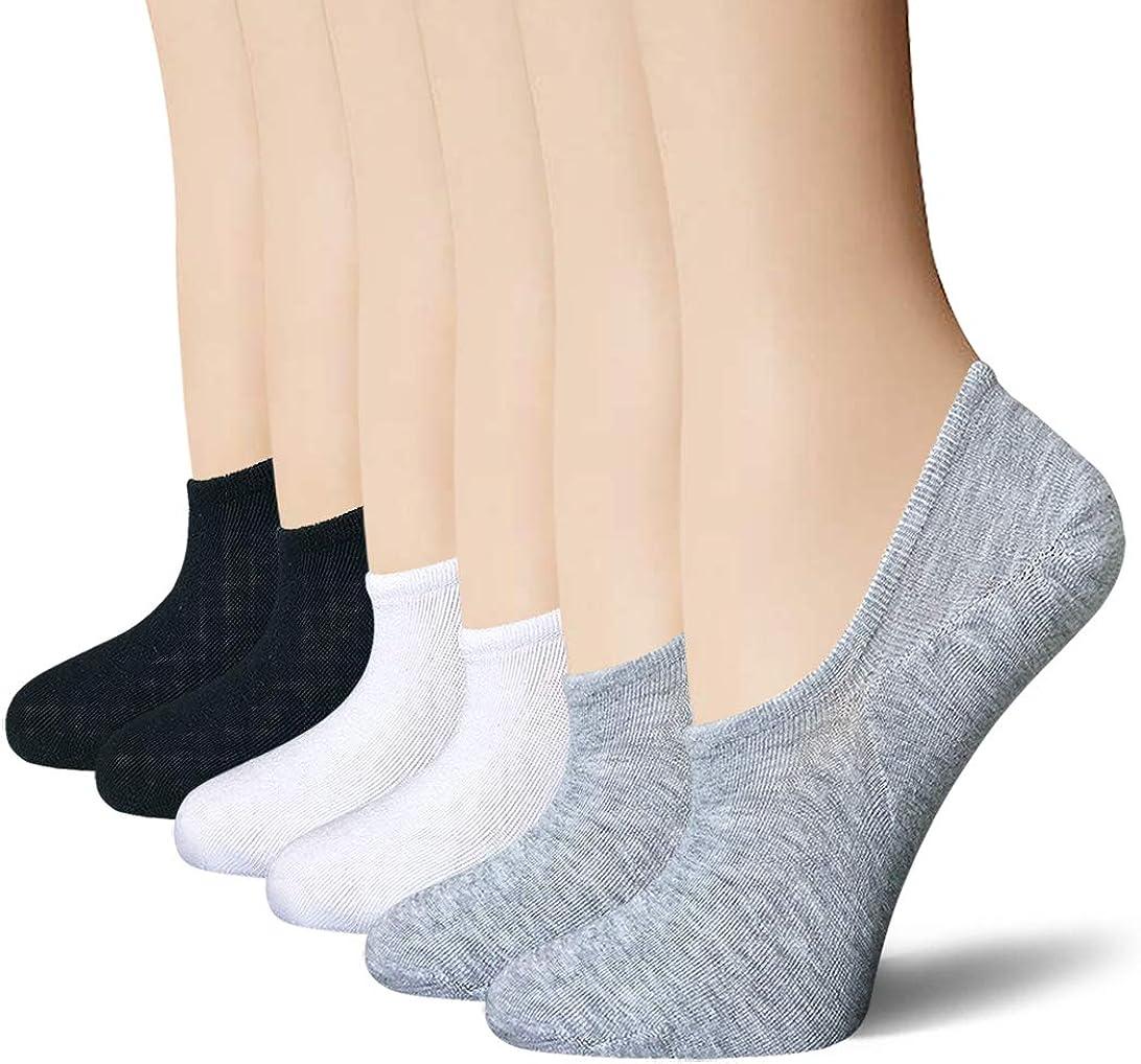 No Show Socks 6 Pairs Non Slip