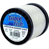 Triple Fish Mono Line, 200 lb (90.7 kg) Test.059 in (1.50 mm) diam, Clear, 1 lb (0.45 kg) Spool, 245 yd (224 m)