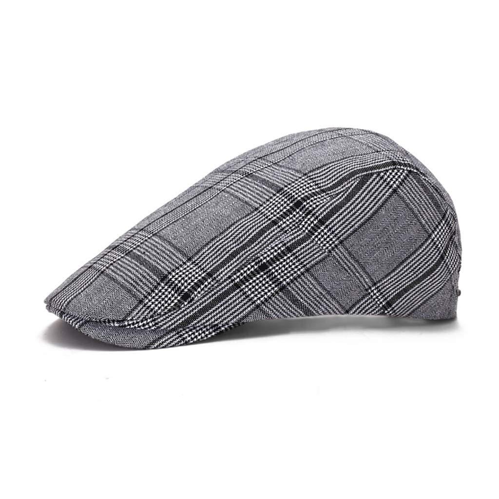 55-59cm Adjustment Ladies Hat Mens Beret 5 Colors NUBAO Warm Cap Color : Gray Suitable for Middle-Aged Men Forward Cap