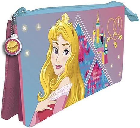 Princesas Disney Estuche portatodo con Tres Compartimentos: Amazon.es: Hogar