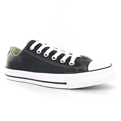 01784900800 Converse All Star Ox Black Leather Womens Trainers Size 7 UK  Amazon.co.uk   Shoes   Bags