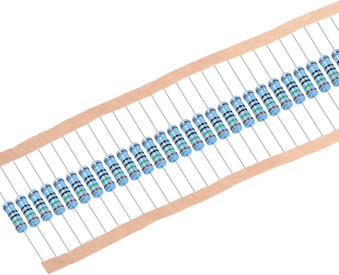 resistencias de pel/ícula met/álica 5 bandas para proyectos y experimentos electr/ónicos de bricolaje 1 W cable axial DealMux 30 piezas de resistencia de 150 ohmios 1/% de tolerancia