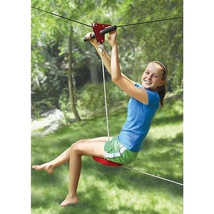 The Seated Backyard Zipline Kit - Amazon.com: The Seated Backyard Zipline Kit: Toys & Games
