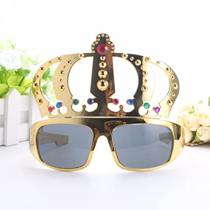 4d056fd185b Image Unavailable. Image not available for. Color  UltimaFio(TM) Beautiful  Crown with Jewel Hen Party Costume Glasses Electroplating Sunglasses for  Birthday